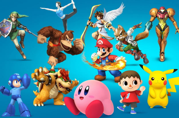Super Smash Bros header