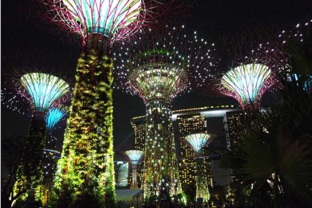 singapores solar powered supertree grove