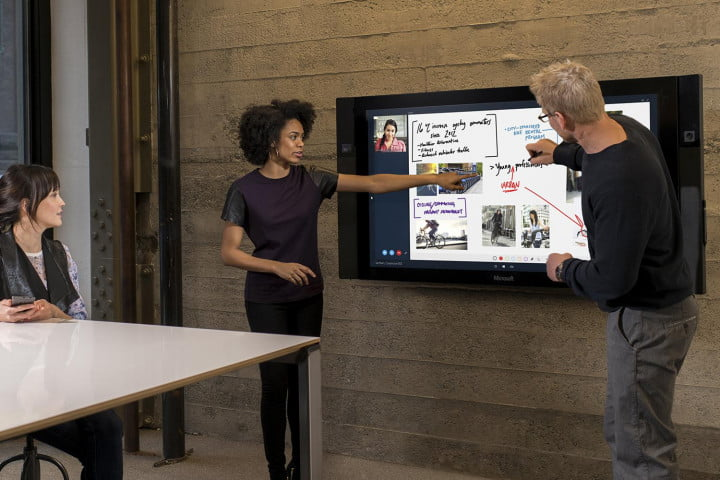 surface hub touch tv studio