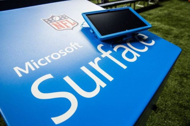 nfl bill belichick giving up on microsoft surface