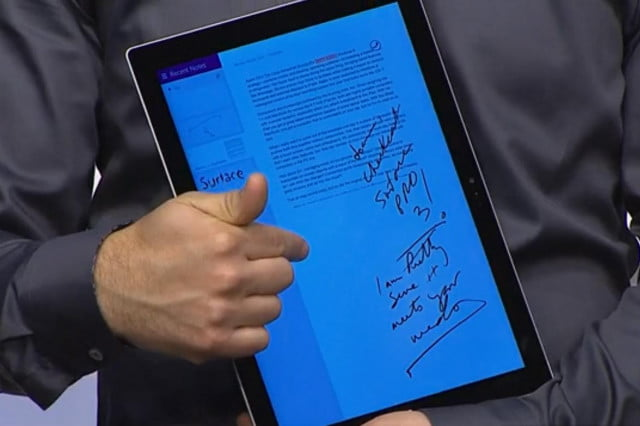 Surface Pro 3 One Note Edits