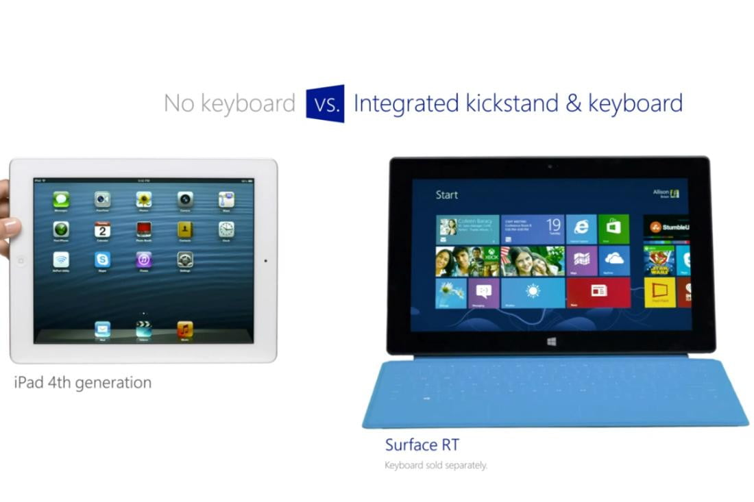 new microsoft ad wants you to know why te surface rt is better than the ipad