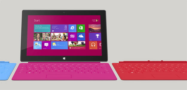 Surface tablet microsoft windows 8