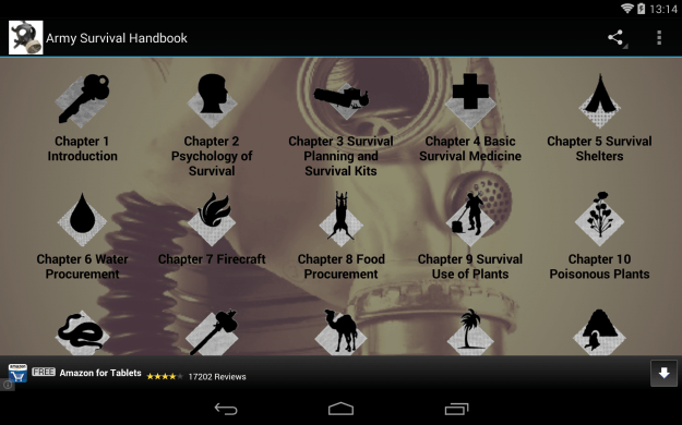 Survival_Handbook_Android_tablet_app_screenshot