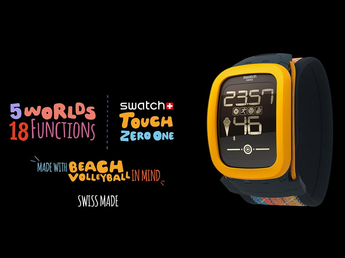 swatchs first smartwatch is for beach volleyball enthusiasts swatch big
