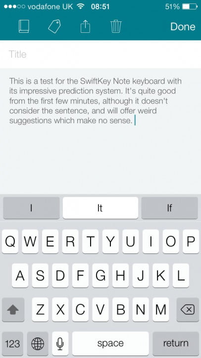swiftkey note released for ios test