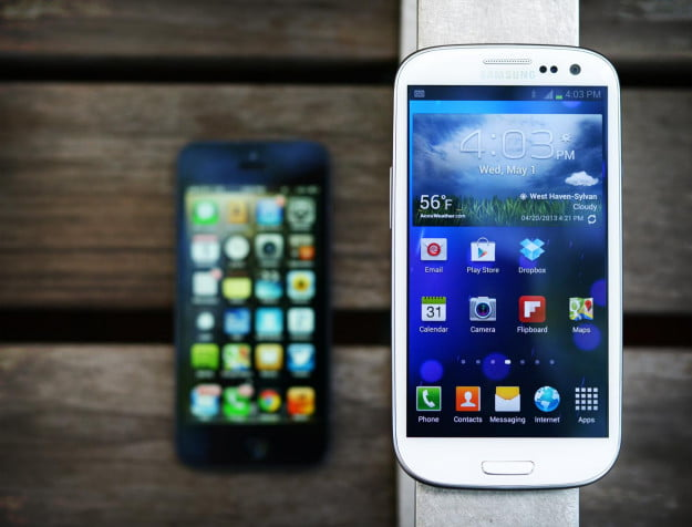 Samsung Galaxy S3 and Apple iPhone 5