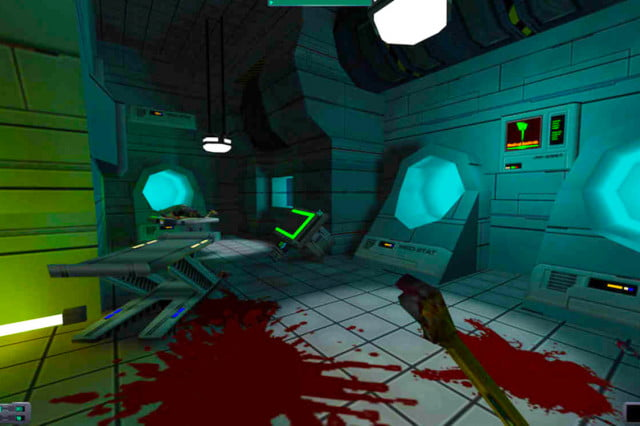 system shock  reveal first person irrational games shooter rpg pc blood melee