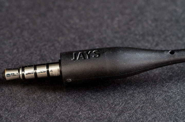 jays t  review in ear headphones cable tip