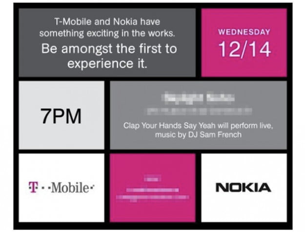 T-Mobile Nokia Event Invitation