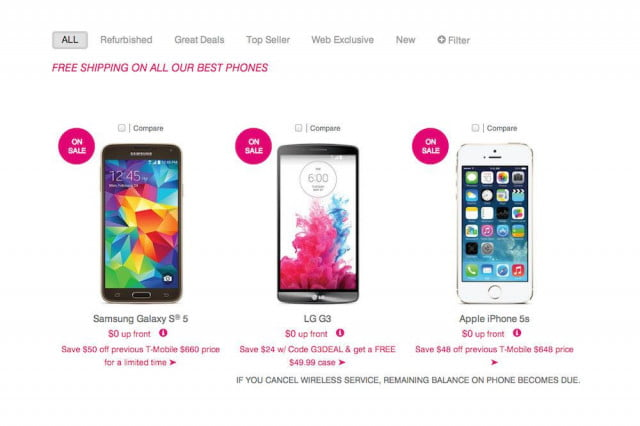 T-Mobile phone sale