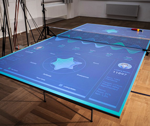 A German designer's AR pingpong table reacts to every shot