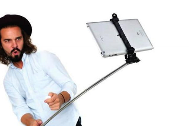 there 39 s a selfie stick for your tablet digital trends. Black Bedroom Furniture Sets. Home Design Ideas