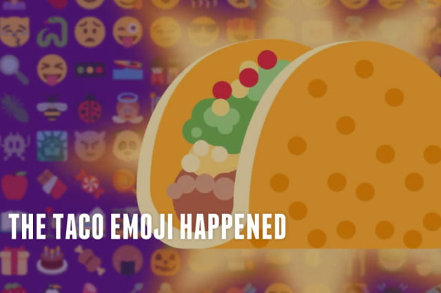 taco bell created  gifs and images to celebrate arrival of emoji