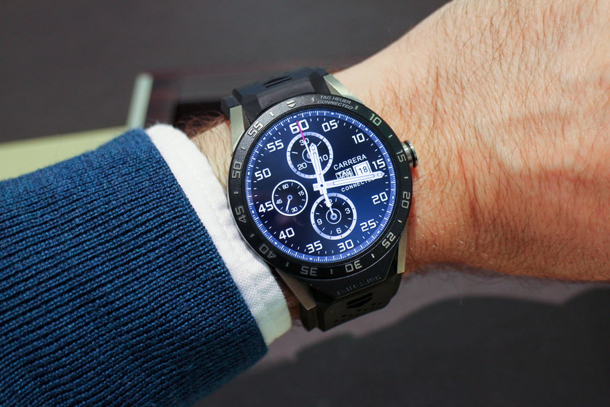 tag heuer hublot zenith smartwatches  news carrera connected hands on review