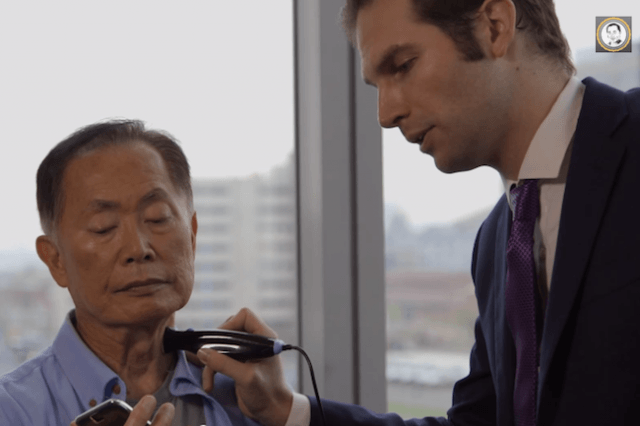george takei smartphone physical