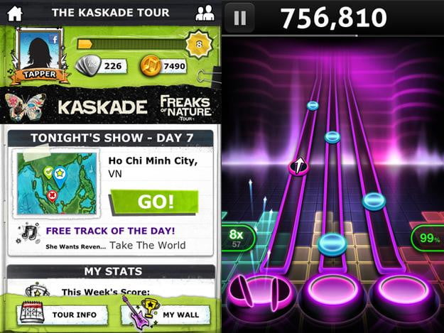 tap tap revenge tour screenshot ipod iphone ios game app free