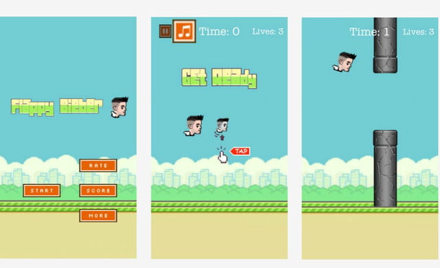flappy bird phenomenon clones make up a third of new ios games tappy bieber game