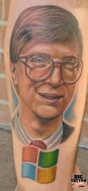 Bill Gates Tattoo