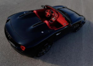 Tauro V8 Spider rear overhead view