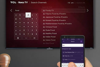 TCL 50FS3800 50-Inch 1080p Roku Smart LED TV remote