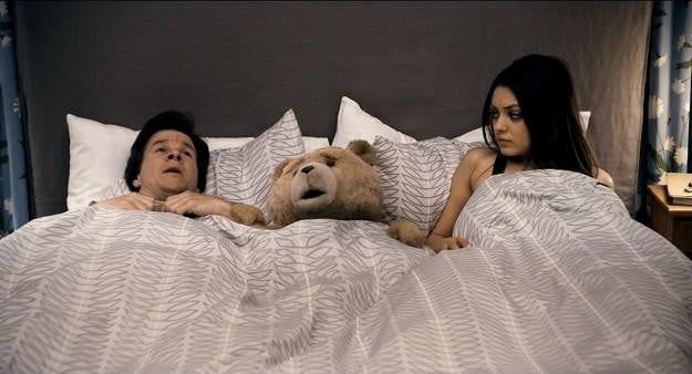 Ted with Kunis and Wahlberg