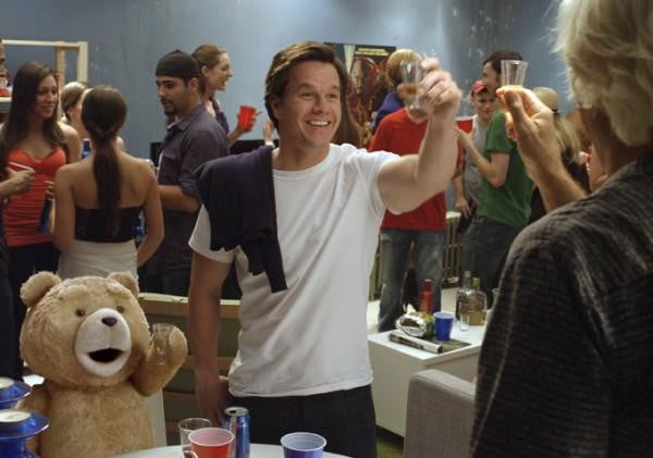 Ted with Mark Wahlberg