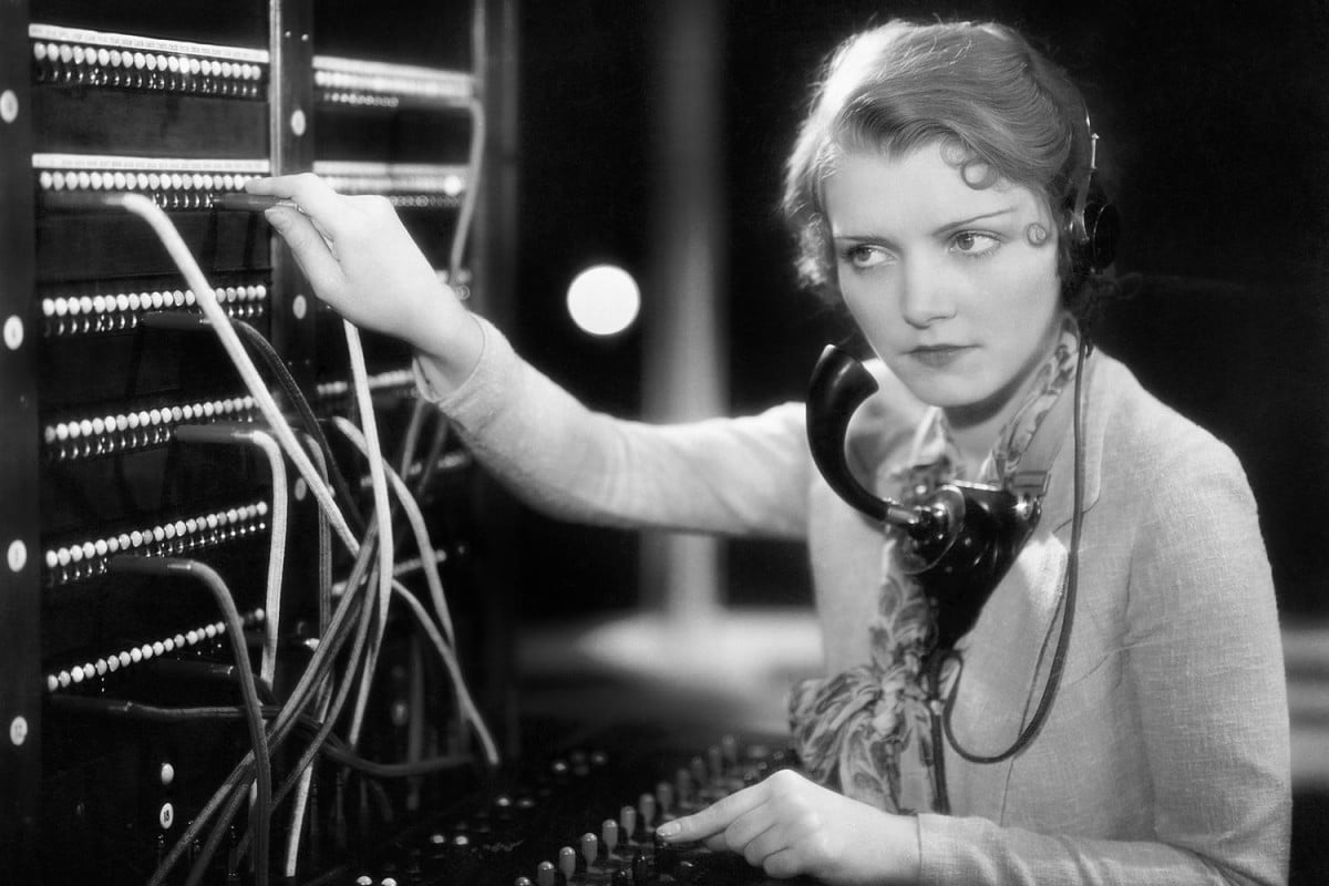 you can still call about  percent of u s households on a landline telephone operator vintage