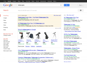 Google Shopping (new product touts)