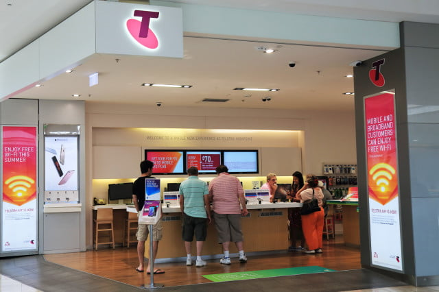 telstra australia data free telecommunications service storefront