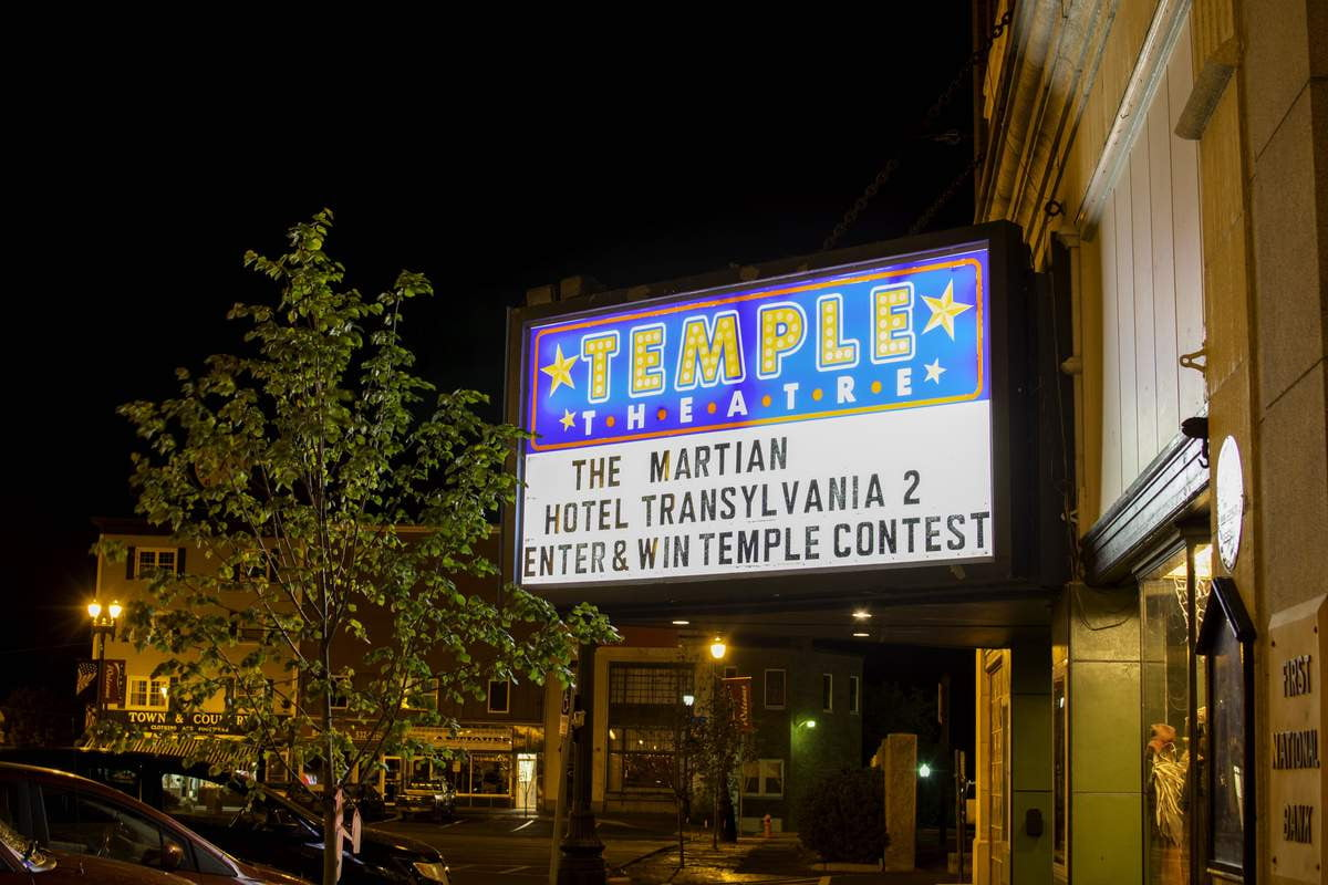 write a short essay to win this movie theater in maine temple