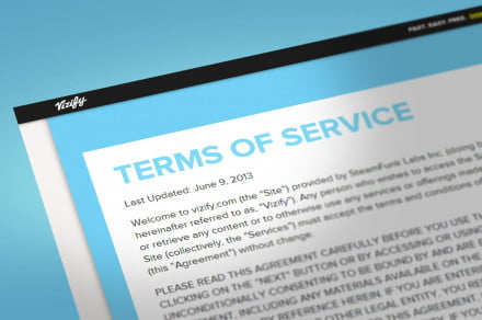 Terms and Conditions Vizify