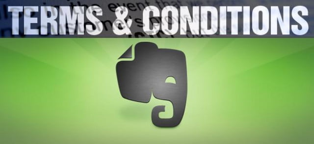 terms conditions evernote