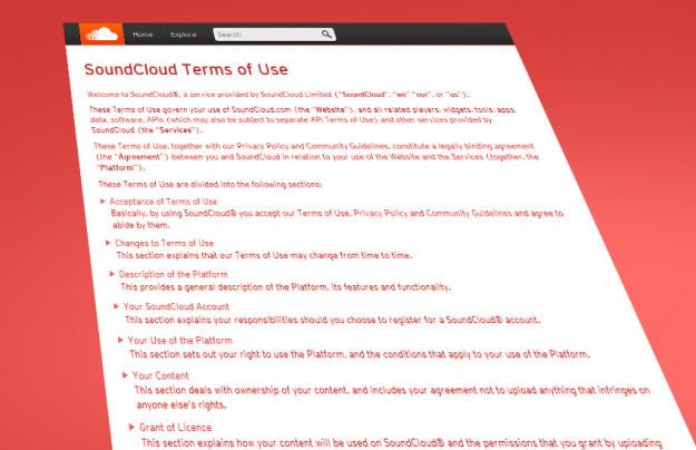 Terms and conditions: SoundCloud