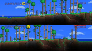 Terraria split-screen