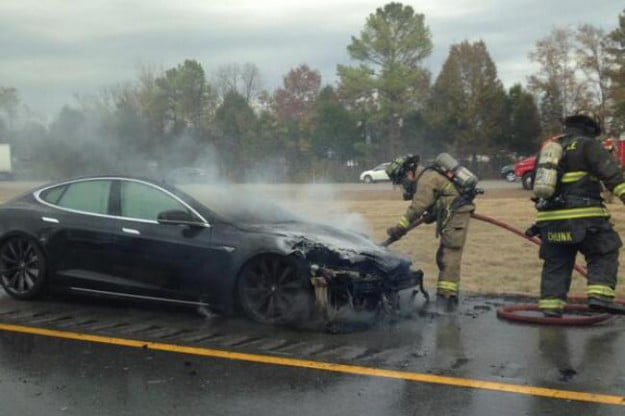 Tesla Car Fire Tennessee