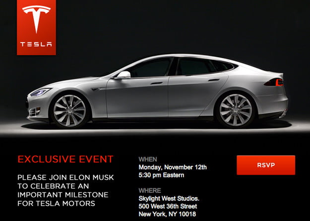 Tesla Model S exclusive NYC event