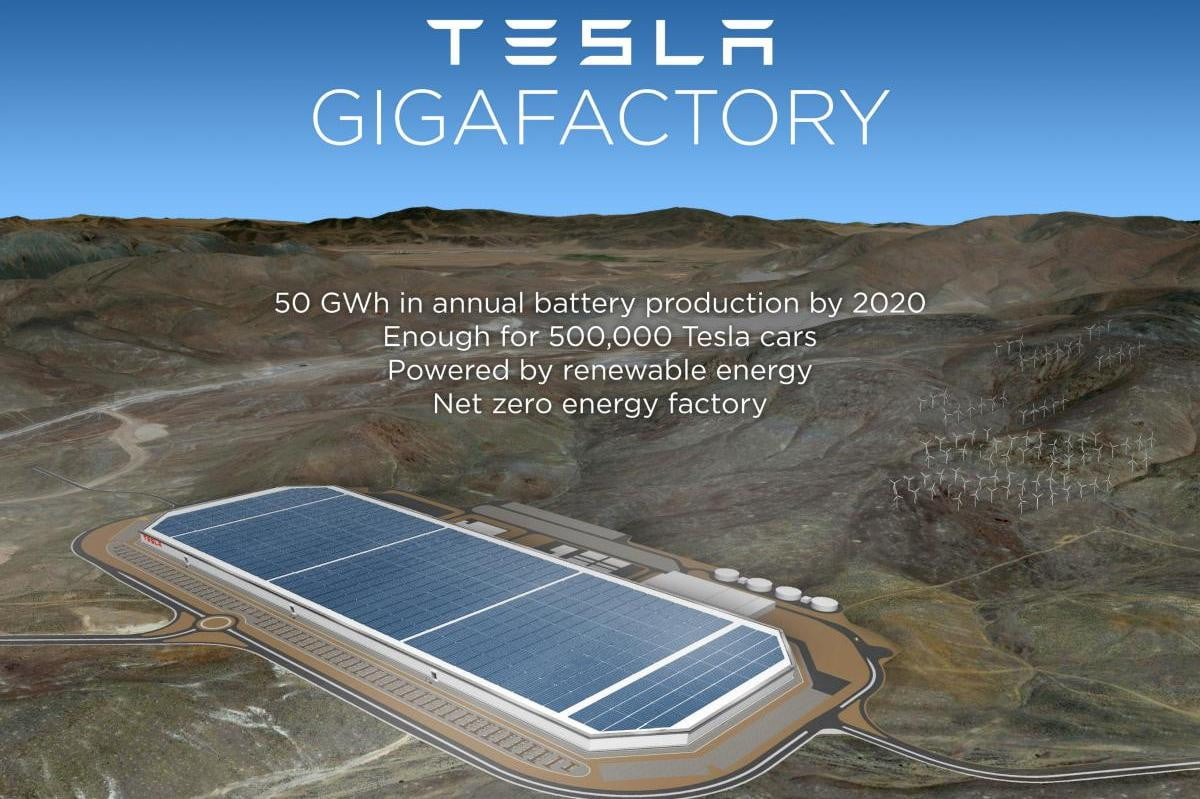 tesla gigafactory will be located in nevada
