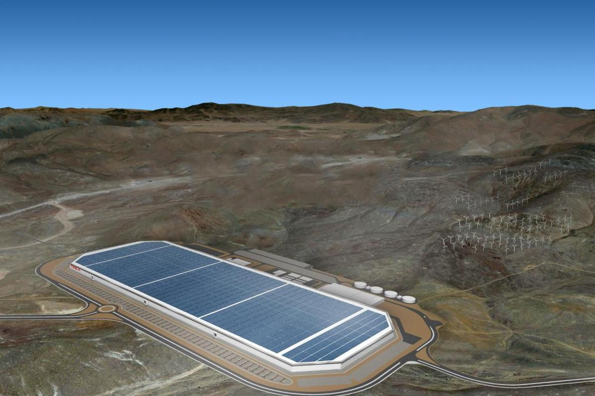 tesla gigafactory images nevada feature