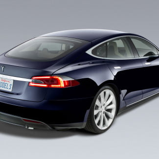 tesla model s ev blue read