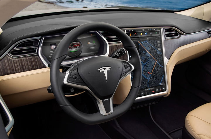 fisker and tesla battle to avoid becoming the next delorean model s ev interior touchscreen