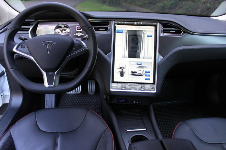 automotive revolutions  years apart how the past predicts future of driving tesla model s interior front