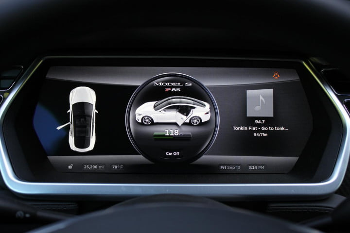 automotive revolutions  years apart how the past predicts future of driving tesla model s istrument panel