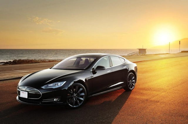 tesla model s software update range anxiety sunset  x c