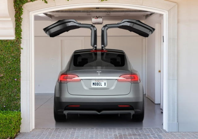 tesla model x electric crossover delayed until late  rear