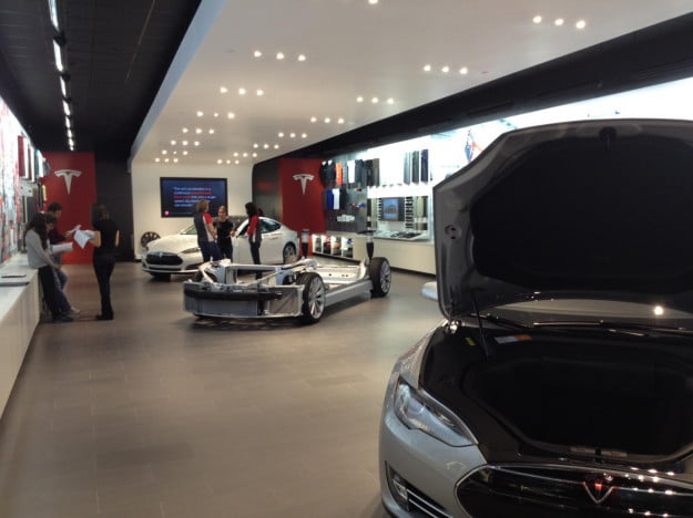 Tesla PDX showroom floor