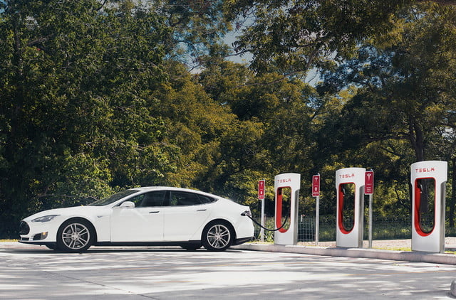 tesla supercharger gas station chain superchargers  x