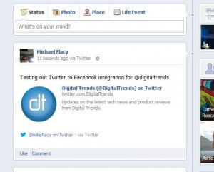 Facebook to Twitter integration
