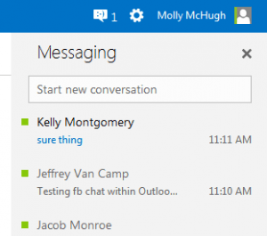 outlook fb chat