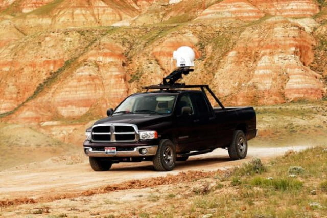 An example of the GSS C520 camera system mounted on a pickup truck.